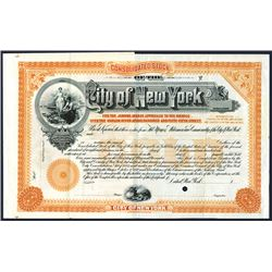 City of New York, Specimen Bond.