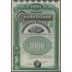 Rhode Island and Providence Plantations, Specimen Bond.