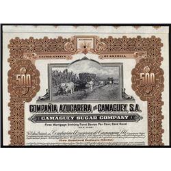 Compania Azucarera de Camaguey, S.A. Specimen Bond.