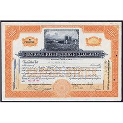Punta Alegre Sugar Co. Issued Stock Certificate.