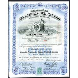 Compana Azucarera Del Panuco, 1900 Issued Stock Certificate.
