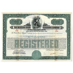 Western Union Telegraph Co., ca,1920 Specimen Bond