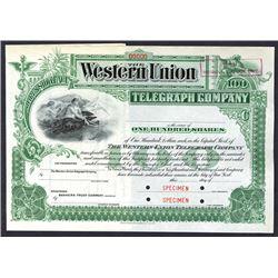 Western Union Telegraph Co., ca.1900 Specimen Stock Certificate.