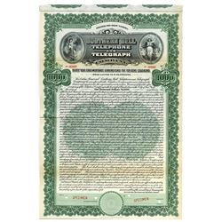 Southern Bell  Telephone and Telegraph Co.1911 Specimen Bond.