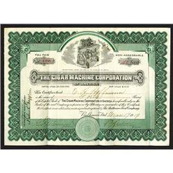 Cigar machine Corporation of America. 1919.