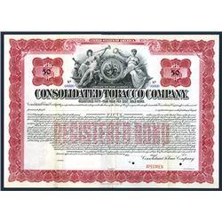 Consolidated Tobacco Co., Specimen Bond.