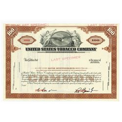 United States Tobacco Co., 1968 Specimen Stock Certificate