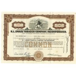 R.L. Swain Tobacco Co., Inc., 1945 Issued Stock Certificate