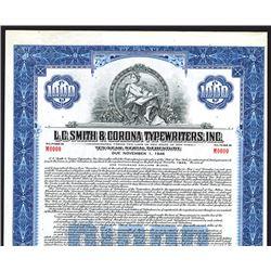 L.C. Smith & Corona Typewriters, Inc., Specimen Bond.