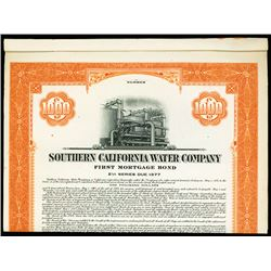 Southern California Water Co., Specimen Bond.