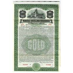 Midvale Steel and Ordnance Co., 1916 Specimen Bond