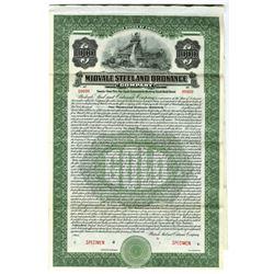 Midvale Steel and Ordnance Co., 1916 Specimen Bond
