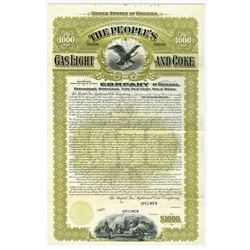 People's Gas Light and Coke Co., 1897 Specimen Bond