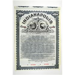 Indianapolis Water Co. 1900 Specimen Bond.