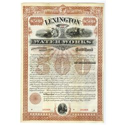 Lexington Water Works, 1893 Specimen Bond.