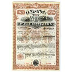Lexington Water Works, 1893 Specimen Bond.