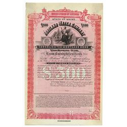 Portland Water Co., 1887 Specimen Bond.