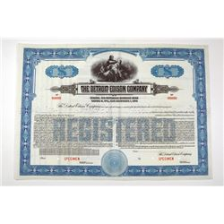 Detroit Edison Co. 1940 Specimen Bond..