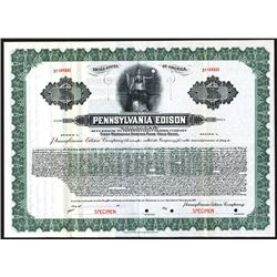 Pennsylvania Edison Co., Specimen Bond.
