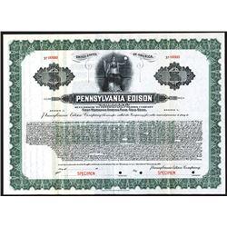 Pennsylvania Edison Co., Specimen Bond.
