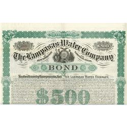 Lampasas Water Co., 1884 Issued Bond