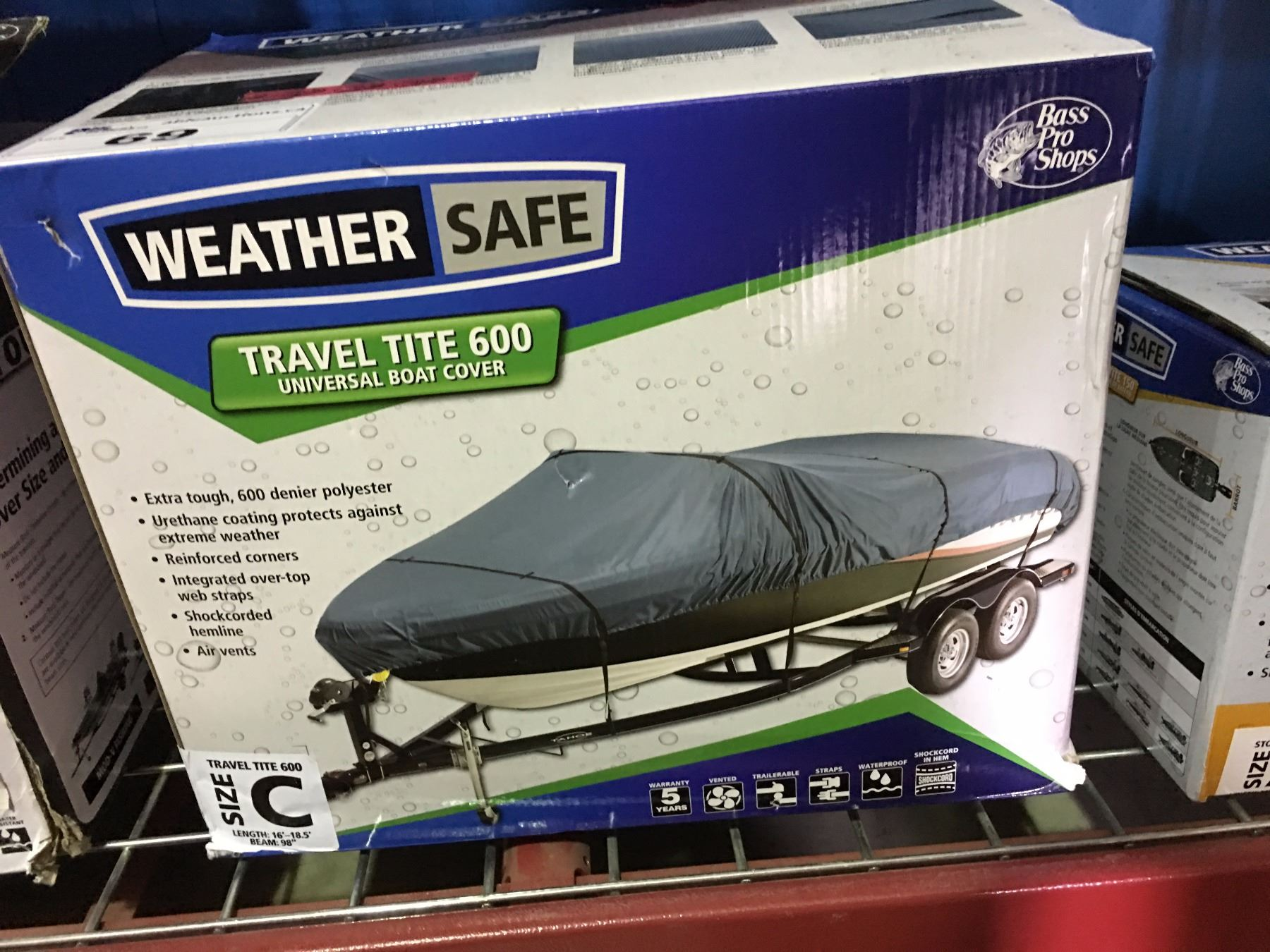 WEATHER SAFE BOAT COVER - SIZE C