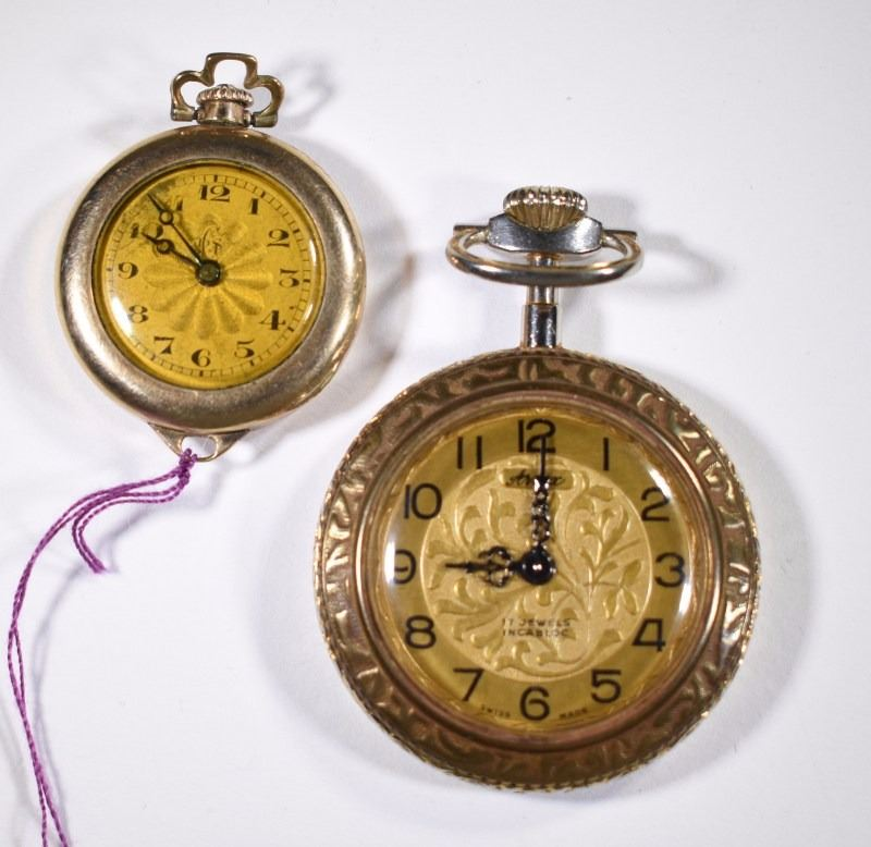b5ade84de Image 1 : Lot of two vintage open face ladies pocket watches ...