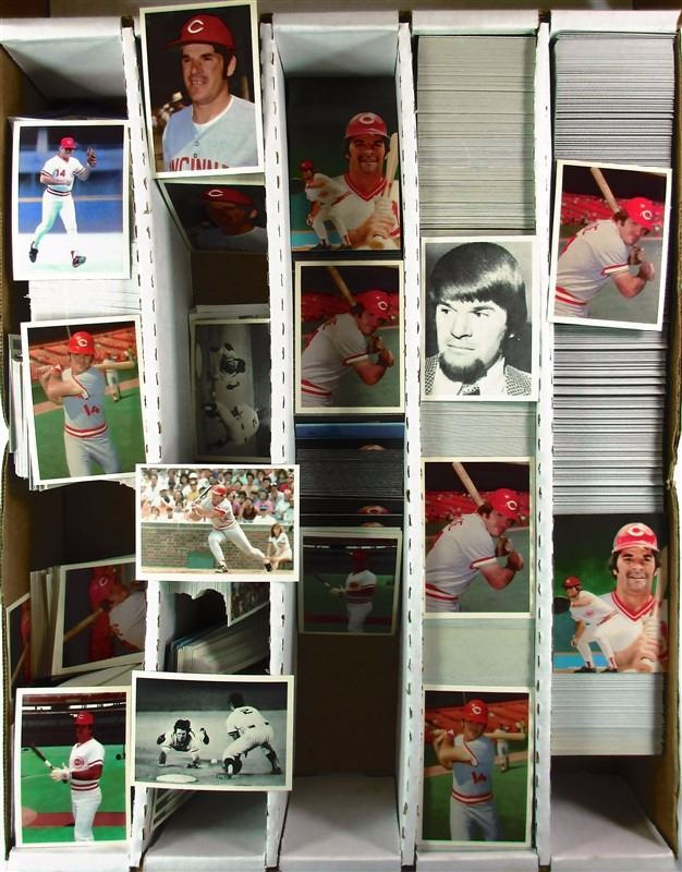 Bulk Lot The Official Pete Rose Baseball Card Designed By Topps