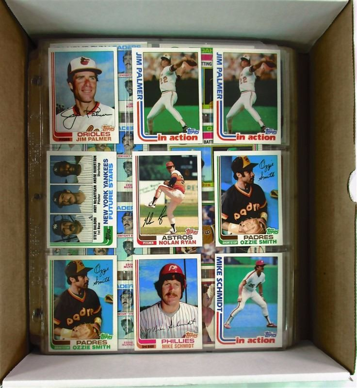 Baseball Card Lot In 9 Pocket Sheets Mostly 1982 With Some 1975 1980