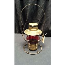 Handlan No Pac Railroad Lantern Red globe