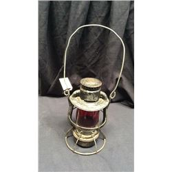 Dietz Vesta P&r Ry Co. Trans Dept Railroad Lantern Red CNX globe. Raised Deitz vesta New York  USA E