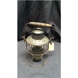 Adlake Railroad Lantern Marked Cnr Clear CNX globe marked Adlake kero CPR Wooden handle that has  Jo