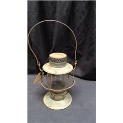 Deitz Bell Bottom Lantern Clear globe marked with Vulc N New York with  worn out dietz marking