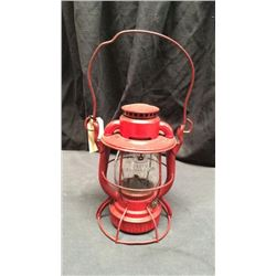 Deitz Vesta Lantern Marked RDG. Co. Trans dept Clear CNX globe marked Dietz vesta New York  USA