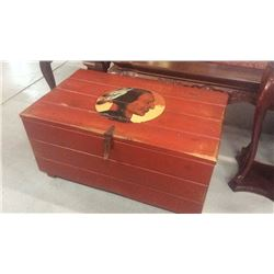 Hand Painted Trunk Indian Warrior