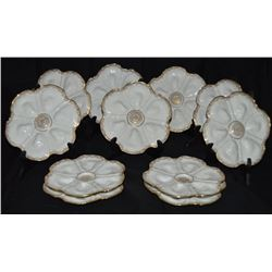 Limoges France Set Of 11 Oyster Plates This Exquisite Limoges France Set Of 11  Oyster Plates By Ls&