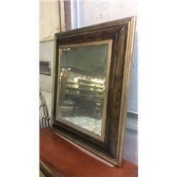 "Large Antiqued Beveled Mirror In Hand Painted Frame.  European Crossroads by John Richard 35.5""w x 3"