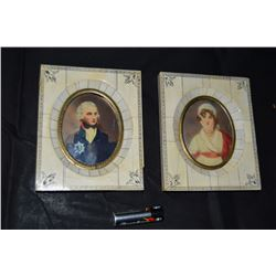Pair Miniature French Paintings