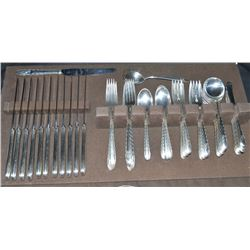Towle 67 Piece Sterling Sliver Flatware Set In 1941 Pattern Silver Flutes  A Beautiful Sterling Silv