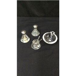 Steuben Glass Collection Ash Tray Salt Salt & Pepper Salt Dip Spoons