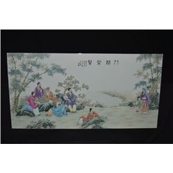 Chinese Hand-painted Ceramic Wall Plaque Painted In Traditional Chinese Style This  Beautiful Cerami