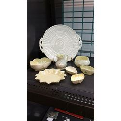 Collection Of Belleek Porcelain 8 Pieces