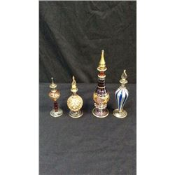 Egyptian Made Collection Of Four Perfume Bottles