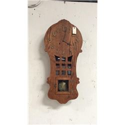 Sessions Arts And Crafts Oak 8 Day Wall Clock Oak Case