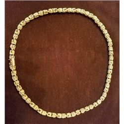 Italian Gold Rope Chain Marked 14k Pat 4170809 86grams