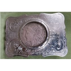 Silver Dollar Belt Buckle