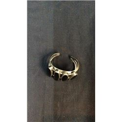 Silver And Black Onyx Cuff