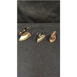 3 Miniature Cast Sad Irons