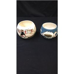 2 New Mexico Pottery One signed