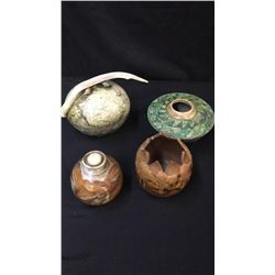 4 Pieces Of Unique Hand Made Pottery